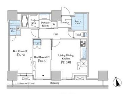 ベルファース芝浦タワー2204号室