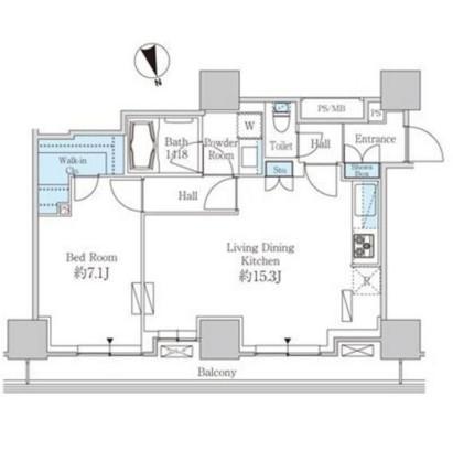 ベルファース芝浦タワー2501号室