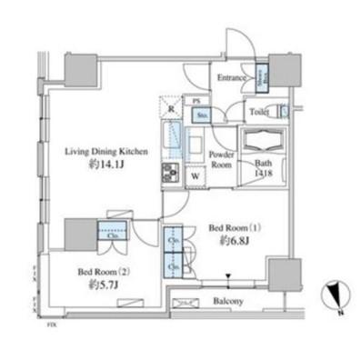 ベルファース芝浦タワー2607号室