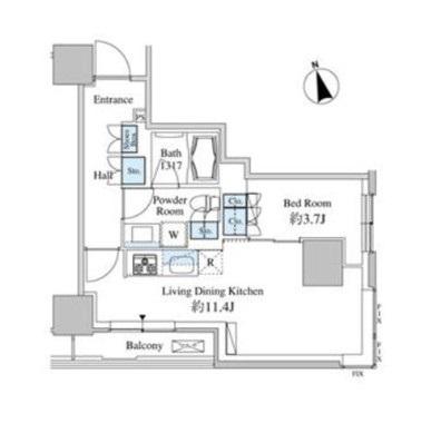 ベルファース芝浦タワー705号室