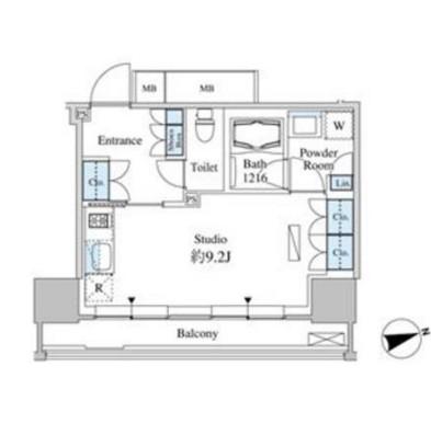 ベルファース芝浦タワー910号室