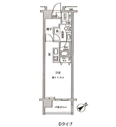クリオ五反田1504号室