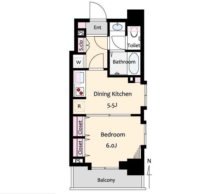 ライオンズマンション西麻布シティ605号室