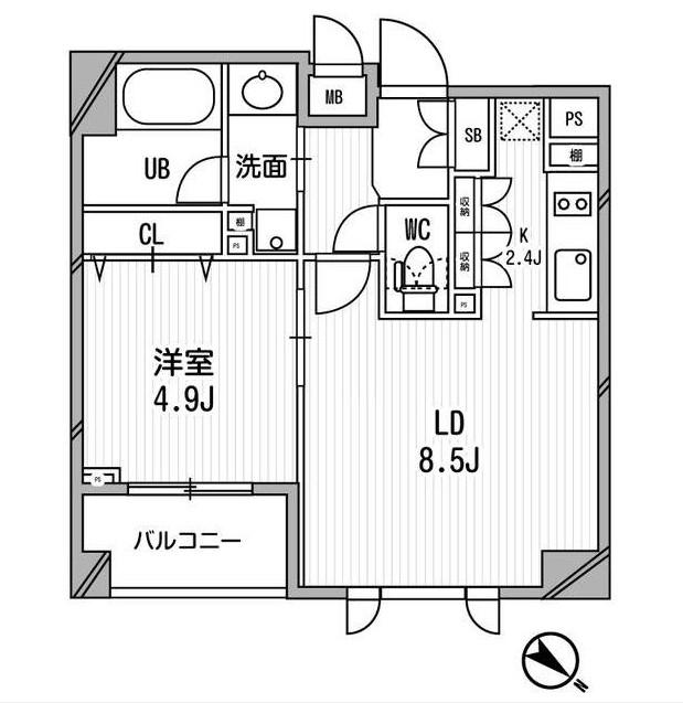 クリオ渋谷ラ・モード408号室