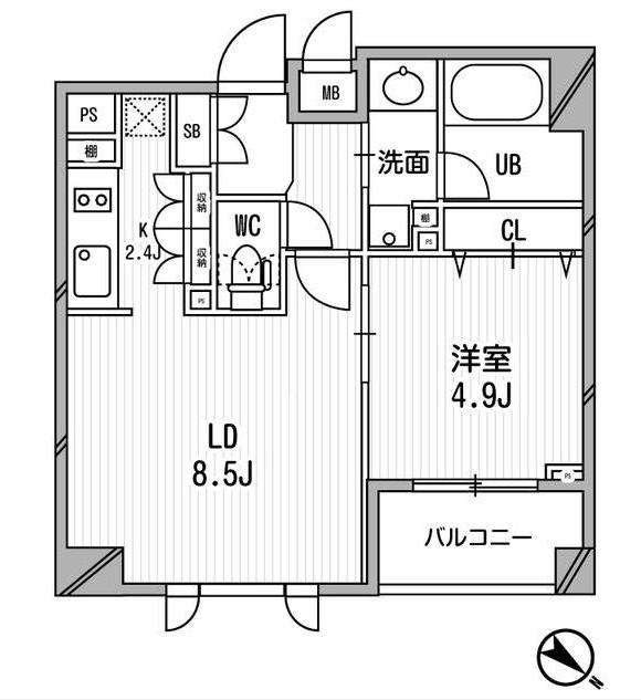 クリオ渋谷ラ・モード507号室