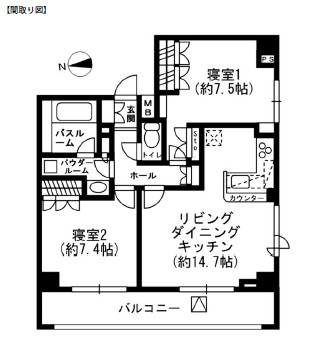 レジディア四谷三丁目1003号室