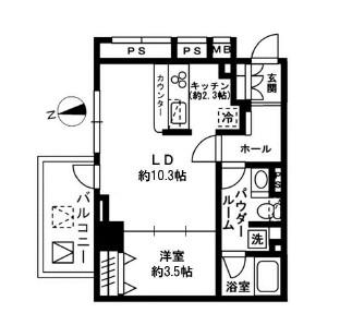 レジディア四谷三丁目301号室