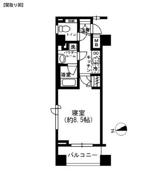 レジディア四谷三丁目302号室