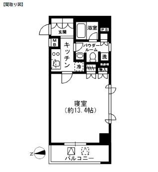 レジディア四谷三丁目406号室