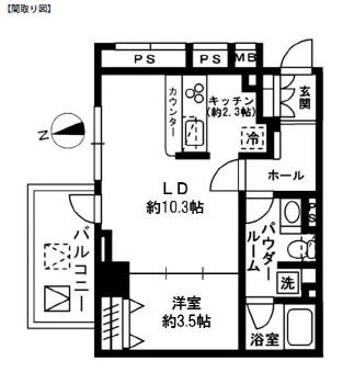 レジディア四谷三丁目501号室
