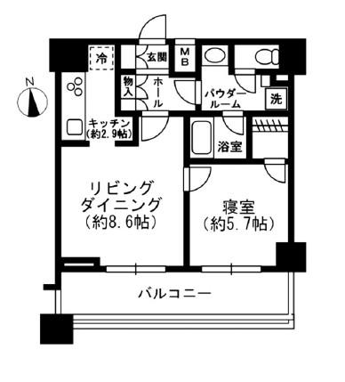 レジディア四谷三丁目512号室