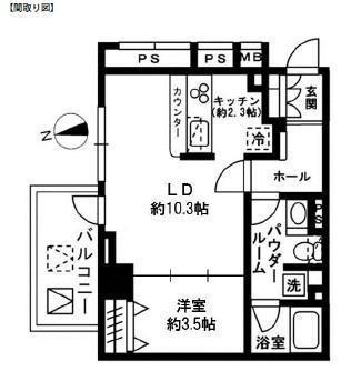 レジディア四谷三丁目601号室