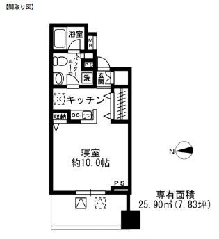 レジディア四谷三丁目704号室
