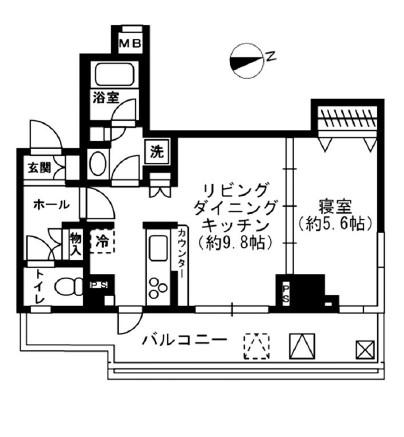 レジディア四谷三丁目711号室