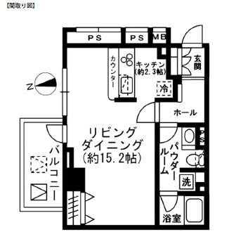 レジディア四谷三丁目801号室