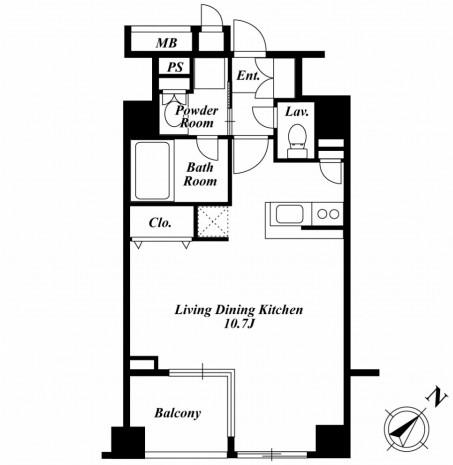 セントラルクリブ六本木2-1403号室
