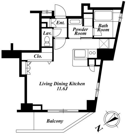 セントラルクリブ六本木2-1501号室