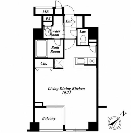 セントラルクリブ六本木2-203号室
