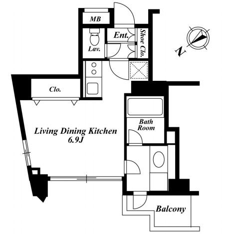 セントラルクリブ六本木3-205号室