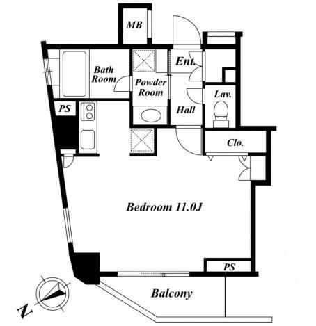 セントラルクリブ六本木1-605号室