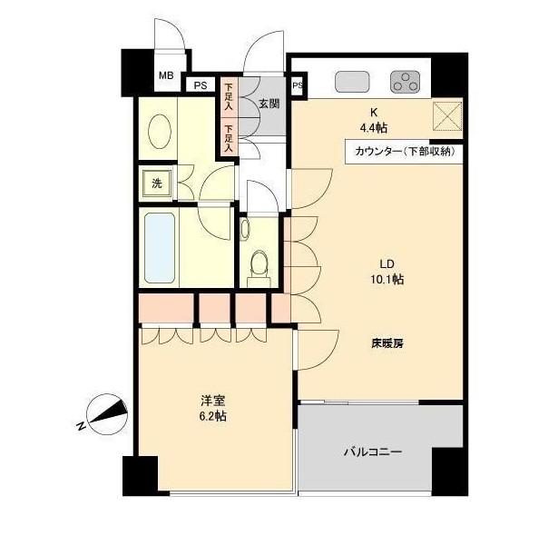 セントラルレジデンス北青山アクシルコート2F号室