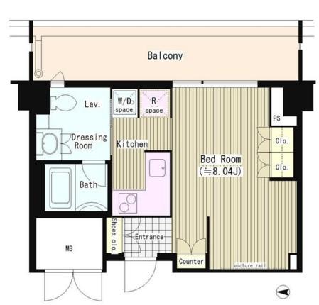 トレステージ四谷615号室