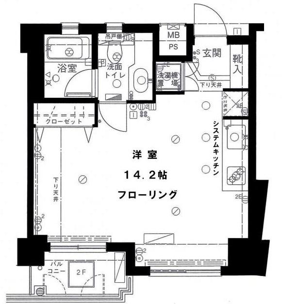フリーディオ四谷三丁目2F号室