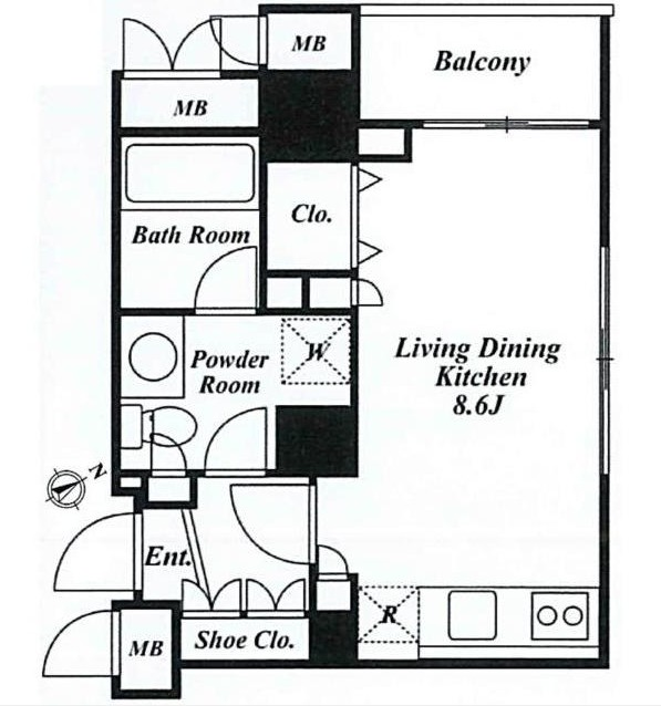 ミルーム広尾Ⅱ306号室