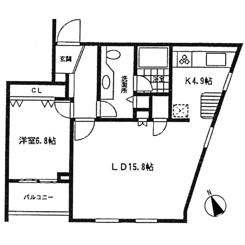 ミルーム乃木坂201号室