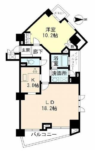 ミレニアムガーデンコート1302号室