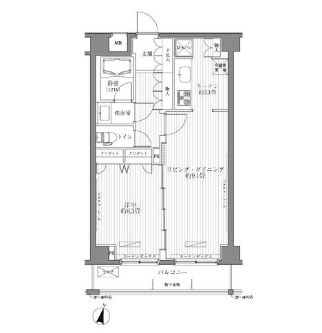 メゾンカルム西新宿202号室