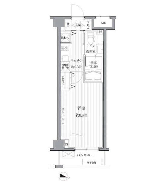 メゾンカルム西新宿315号室