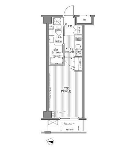 メゾンカルム西新宿409号室