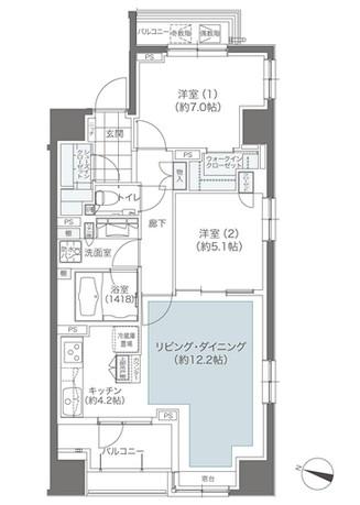 メゾンカルム本郷607号室