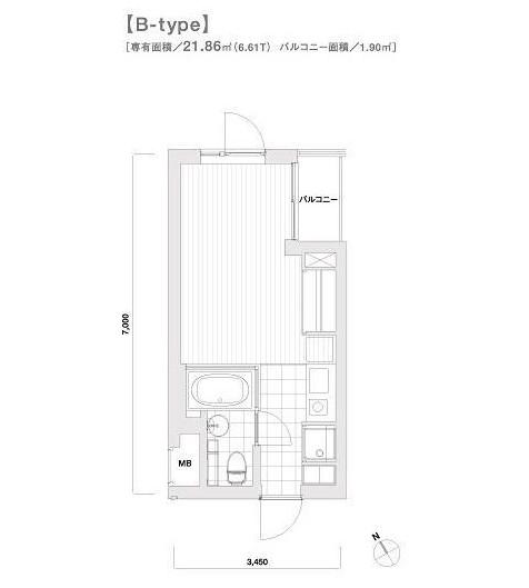モデリアブリュット参宮橋204号室