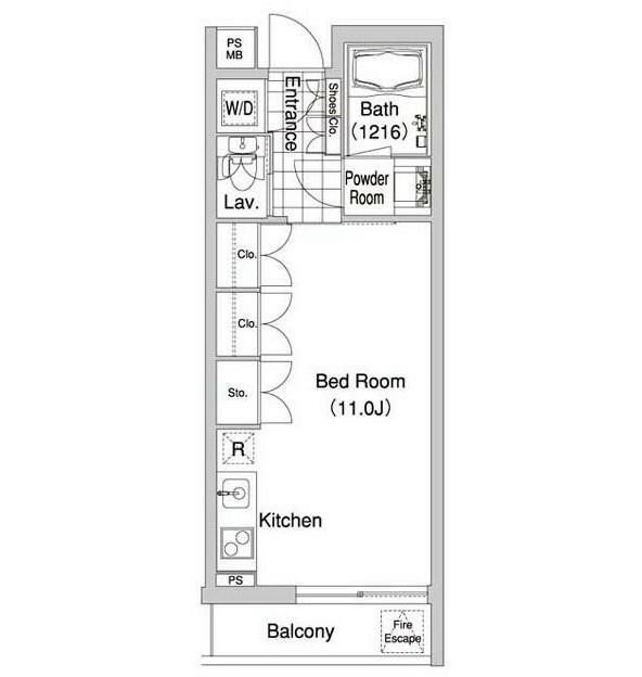 コンフォリア早稲田302号室