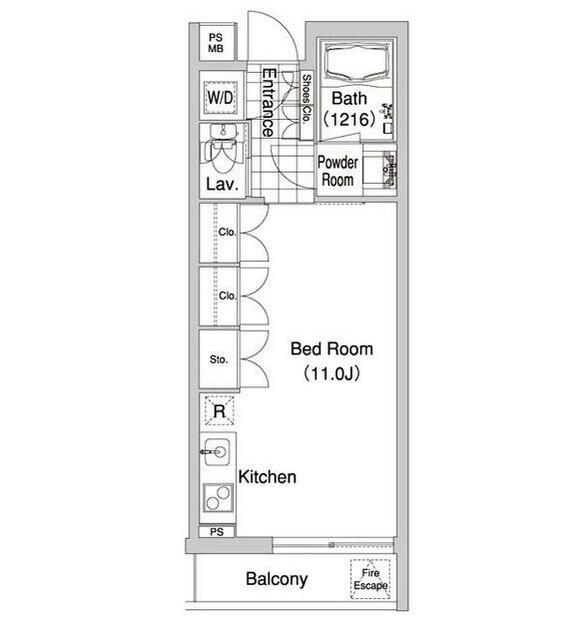 コンフォリア早稲田402号室