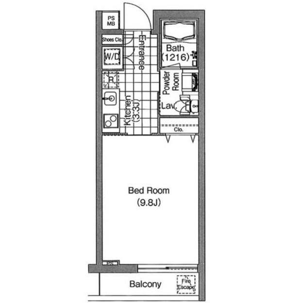 コンフォリア早稲田414号室