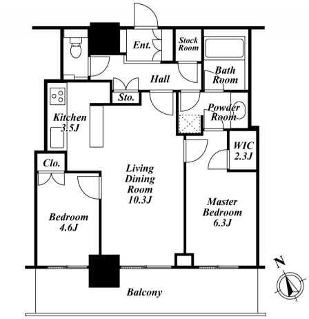 リエトコートアルクスタワー1504号室