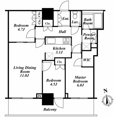 リエトコートアルクスタワー1605号室