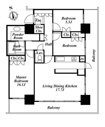 リエトコートアルクスタワー2003号室