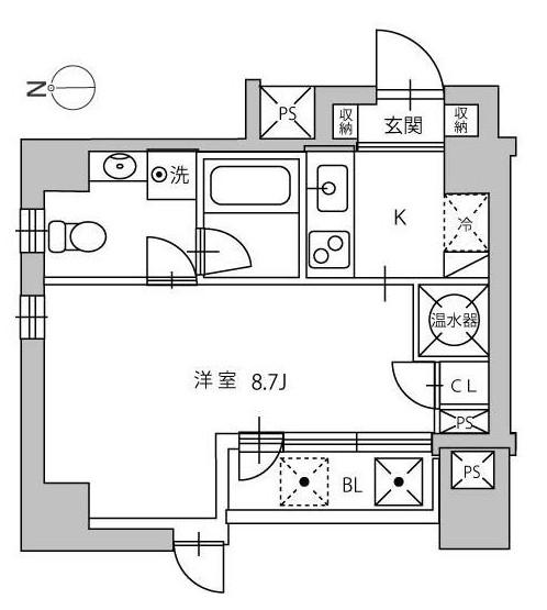 ルーチェ高輪802号室