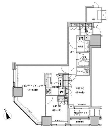 ウエストパークタワー池袋1106号室