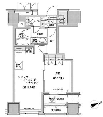 ウェストパークタワー池袋1112号室