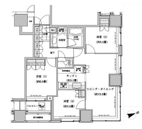 ウエストパークタワー池袋1413号室