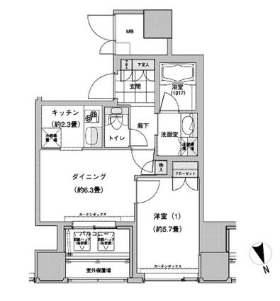 ウエストパークタワー池袋1414号室
