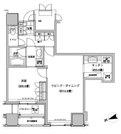 ウエストパークタワー池袋1505号室