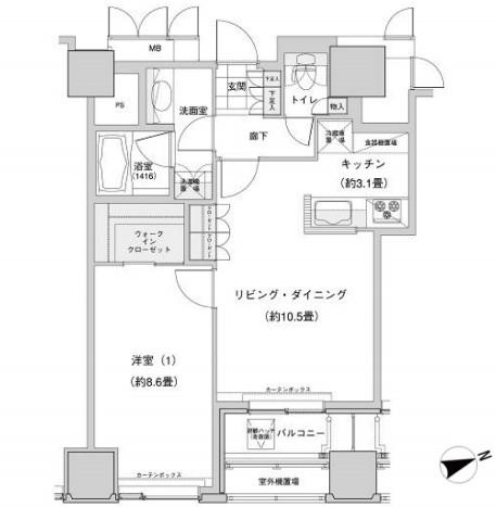 ウェストパークタワー池袋1612号室