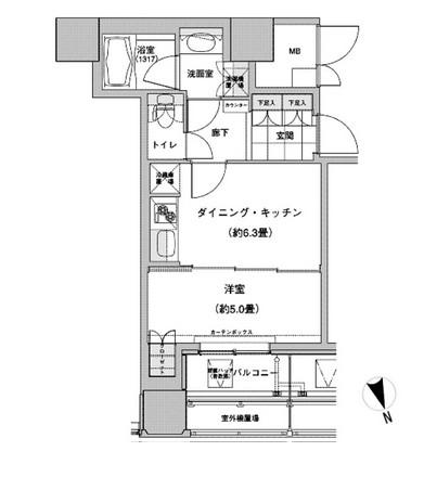ウエストパークタワー池袋1701号室