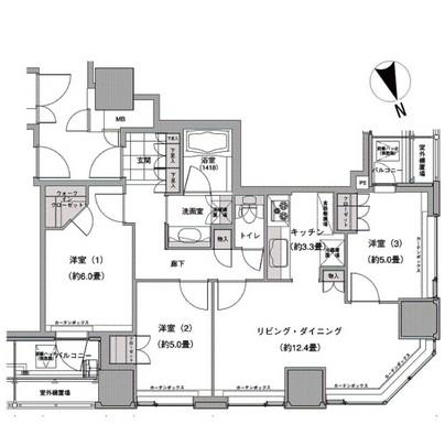 ウエストパークタワー池袋1702号室